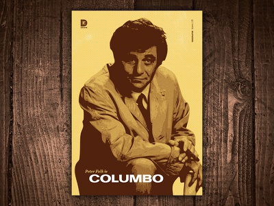 Peter Falk is Columbo Art Print detective print art 1970s character tv show peter falk columbo