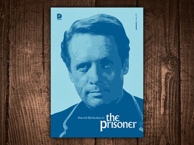 Patrick McGoohan is The Prisoner Art Print print art 1960s tv tv show classic patrick mcgoohan the prisoner