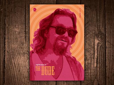 Jeff Bridges is The Dude Art Print print art movie cohen brothers film star big lebowski jeff bridges the dude
