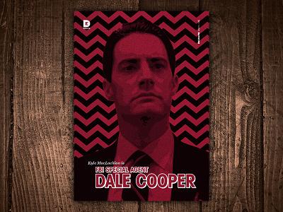 Kyle MacLachlan is FBI Special Agent Dale Cooper Art Print tv series show tv print art fbi dale cooper kyle maclachlan david lynch twin peaks