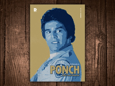 Erik Estrada is Ponch Art Print print art frank poncherello ponch erik estrada cops california highway patrol tv tv show chips