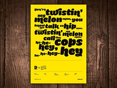 Step On by Happy Mondays TypoLyric Art Print typography lyrics print art music ecstasy factory records manchester madchester hacienda step on happy mondays