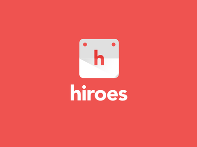 Hiroes logo material design colors smart logo logo design event planner digital flat trademark logotype calendar