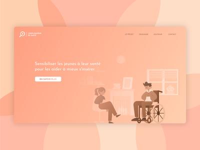 Explorateur de santé - Landing page