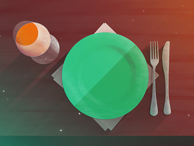 Table For One alone meal dinner table for one table restaurant illustration hotel