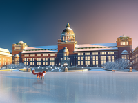Museum of Natural History - Christmas Illustration 2016