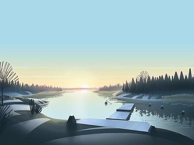 Grisslehamn - Winter sweden winter illustration