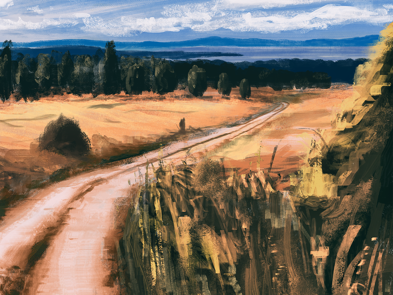 Heat heat painting photoshop impressionism artistic landscape sweden illustration