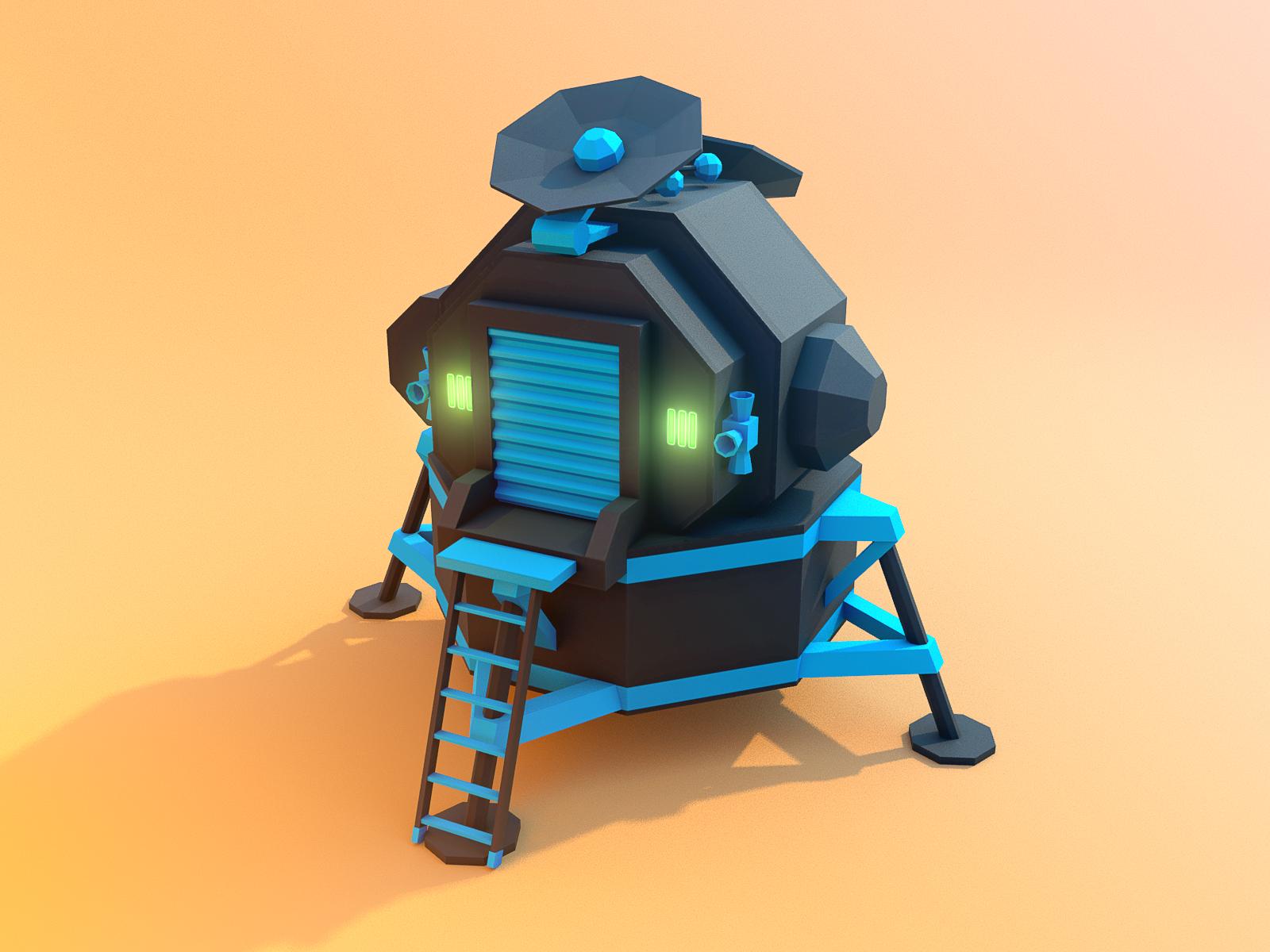 Moonlander render 1 8bits