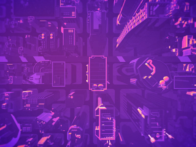Epic city from the future ⚛️ smooth 3d animation city futures