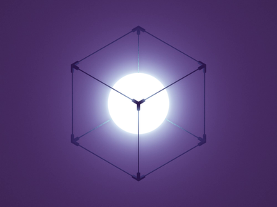 Philosopher's Cube seamless meditation optical illusion loop isometric mindfuck geometry