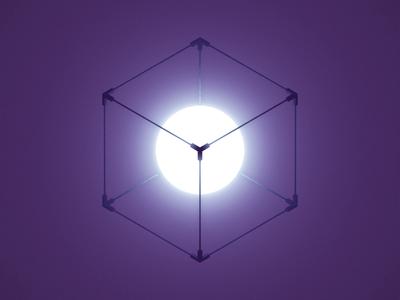 Philosopher's Cube seamless meditation optical illusion loop isometric mindfuck geometry
