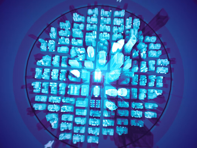 Who watches the watchers loop controller scientist future map city holographic