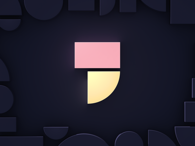 New year, new logo. rebranding logodesign geometry 3d logo 3d 2020