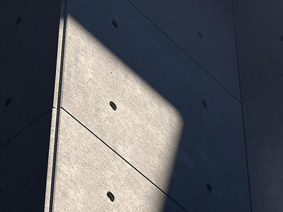 Lux Sit III concrete maya 3d artwork shadow light architecture brutalistic brutalism minimalistic print