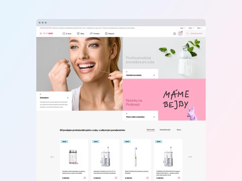 Profimed - Design Concept design web minimalism agency studio sdmk care dentist dental czech interface website ui ux