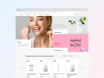 Profimed - Design Concept design web minimalism agency studio sdmk care dentist dental czech interface website ui ux