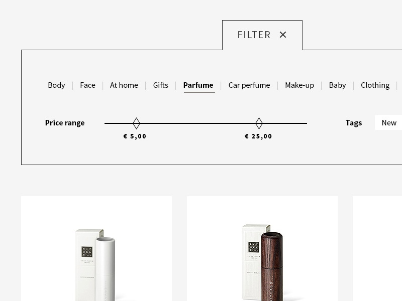 Product filter catalogue filter store e-shop user interface webdesign