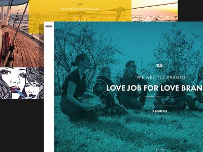 Agency - website - wip agency design web site user experience webdesign gui ui czech