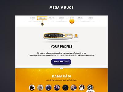 Mega v Ruce website microsite user interface ui ux