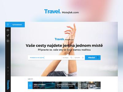 Travel concept ad travel site layout ux ui web design website