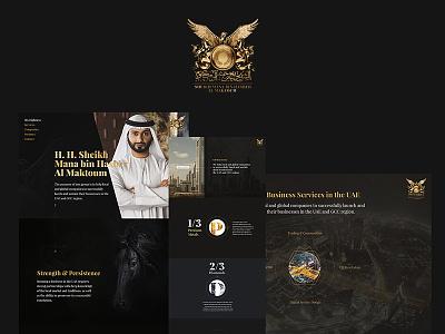 Sheikh / personal web site ui ux userinterface design czech stellarbold website dubai sheikh