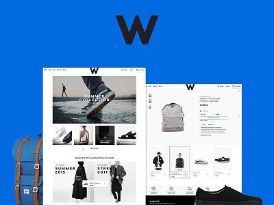 Woodies jakubsodomka prague czech art direction website design ux ui store fashion eshop ecommerce