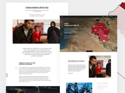 Map Of Displacement webdesign art direction interaction design ux ui design