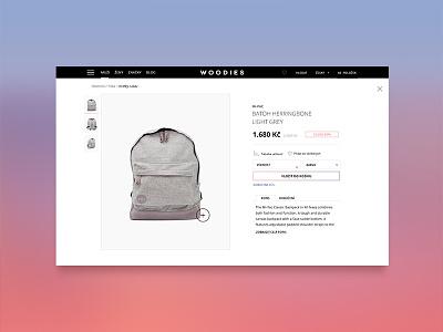 Woodie / wip minimalism modern fashion eshop ecommerce ux design ui