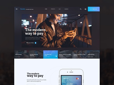 iBank responsive site web wip ibank bank experience interface ux ui design concept