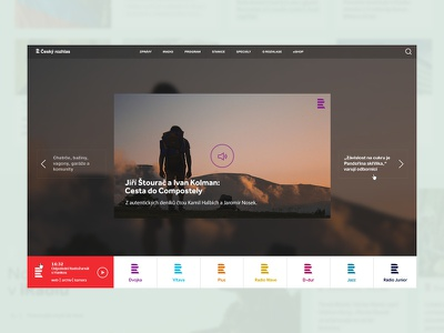 CR Concept corporate experience ux ui design website radio