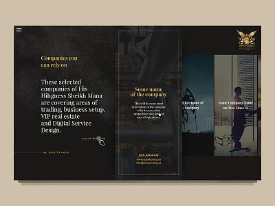 Sheikh dubai sheikh microsite web website art direction design ux iu