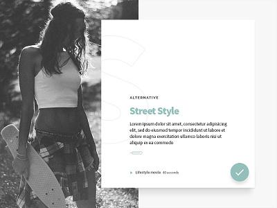 Lifestyle article ui minimalism typography material designer blog article interface czech design ui