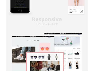 Woodies ux ui design website online store