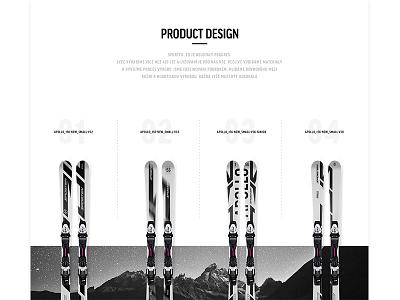 Ski - wip product ux ui winter casestudy web design ski