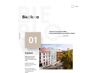 Microsite parallax designer czech ux ui interface web minimalism architects