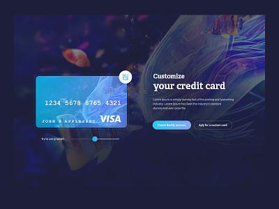 Customize your card conceptual desktop userexperience czechdesign designinterface ux ui ibank