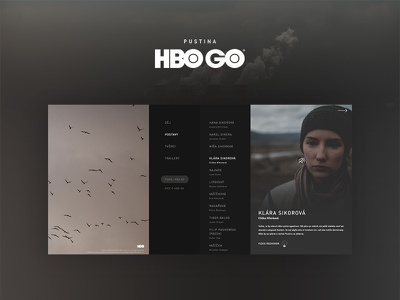 HBO / Pustina - Tv series website movie nmds czechdesigner artdirection ux ui tvseries hbo