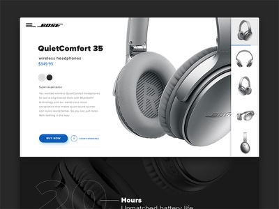 Online store for Bose QuietComfort 35 sketchapp website desktop concept czechdesign ux ui e-commerce eshop store online bose