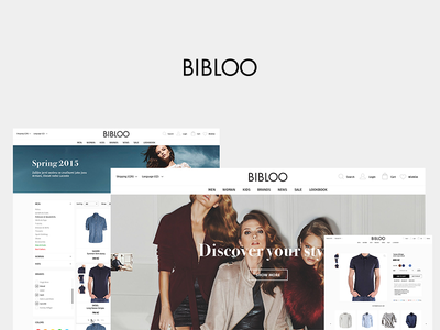 Bibloo brand store fashion store interface design ux ui website ecommerce