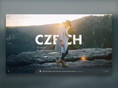 Traveler - design concept minimalism nature czech photography landscape sketchapp web interface ui ux design