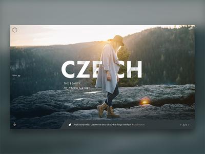 Traveler - design concept minimalism nature czech photography landscape sketchapp web interface ui ux design