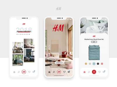 H&M Home App Concept home ecommerce interface ios product iphonex design app ux ui hm