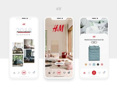 H&M Home App Concept home ecommerce interface ios product iphonex design app ux ui hm