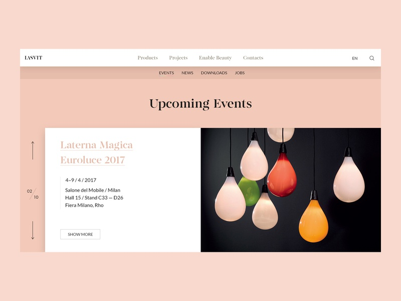 Events czechdesigner sdmk minimalism jakubsodomka lasvit czech webdesign interface ux ui