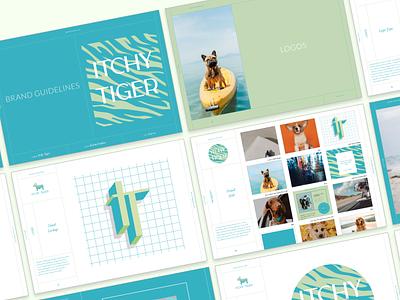 Itchy Tiger Branding & website design typography branding logo design