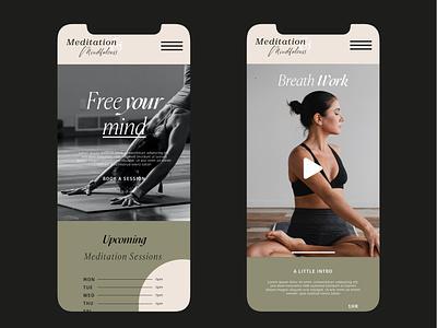 Fitness Lifestyle Website Design - Mobile logo design graphic design branding ui ux