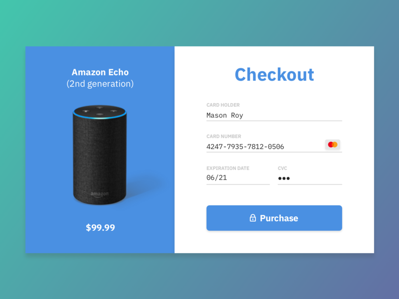 DailyUI 002 - Checkout checkout type daily ui dailyui design typography ui ux