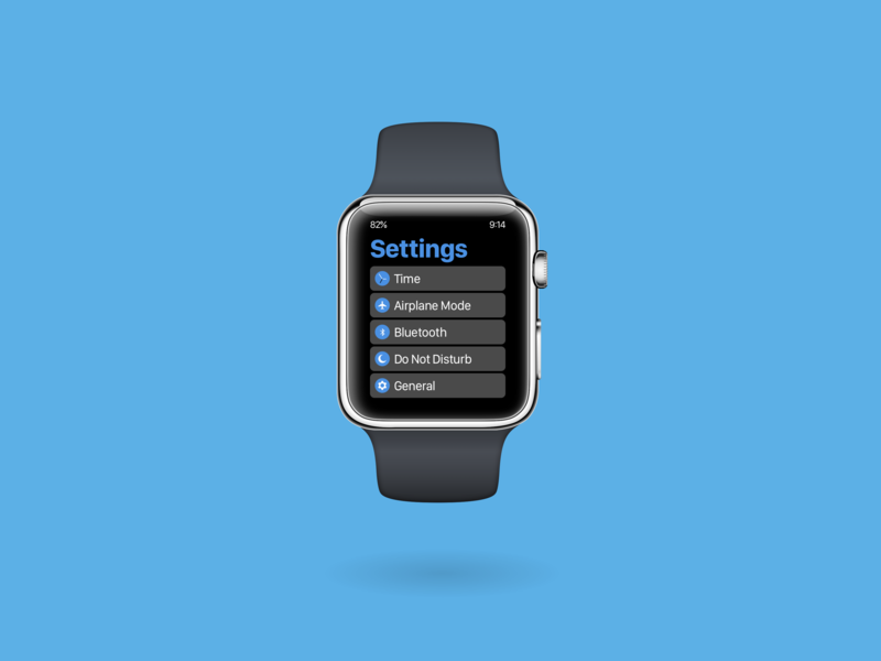 DailyUI 007 - Settings daily ui dailyui settings wearables type ui ux typography design