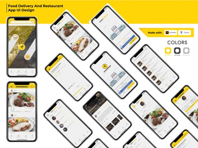 Foomingo restaurant restaurant app food and drink ui design application graphic design app design ui logo food app food design app